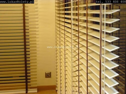 Galeria zaluzje drewniane 50mm 078