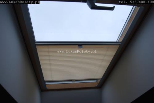 Galeria zaluzje plisy na okna dachowe db41 03