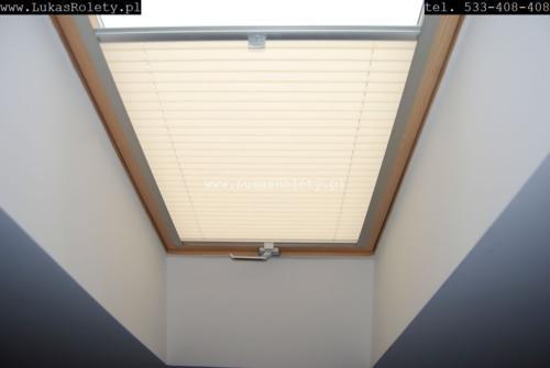 Galeria zaluzje plisy na okna dachowe db41 07