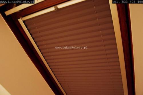 Galeria zaluzje plisy na okna dachowe db41 10