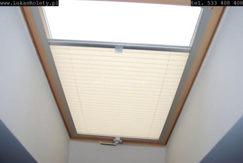 Galeria zaluzje plisy na okna dachowe db41 14