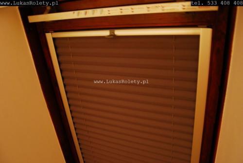 Galeria zaluzje plisy na okna dachowe db41 16
