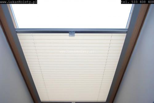 Galeria zaluzje plisy na okna dachowe db41 22