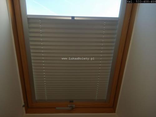 Galeria zaluzje plisy na okna dachowe db41 23