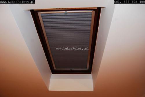 Galeria zaluzje plisy na okna dachowe db41 26