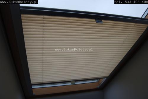 Galeria zaluzje plisy na okna dachowe db41 28