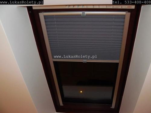 Galeria zaluzje plisy na okna dachowe db41 35