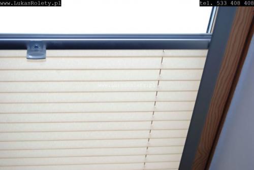 Galeria zaluzje plisy na okna dachowe db41 41
