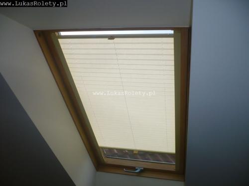 Galeria zaluzje plisy na okna dachowe db41 43