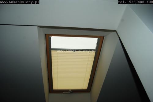Galeria zaluzje plisy na okna dachowe db41 46