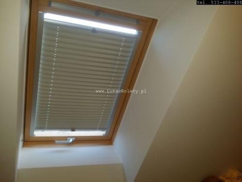 Galeria zaluzje plisy na okna dachowe db41 52