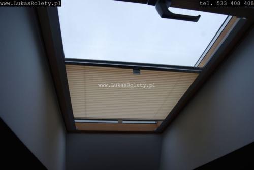 Galeria zaluzje plisy na okna dachowe db41 54