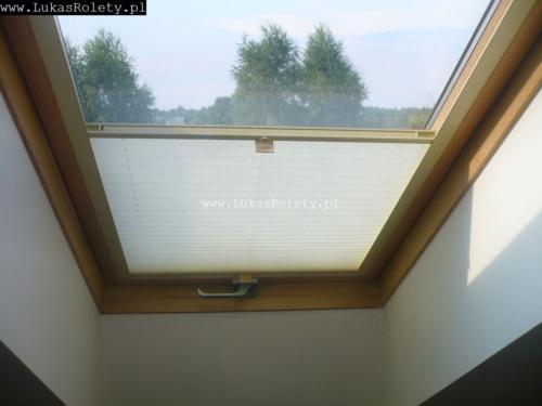 Galeria zaluzje plisy na okna dachowe db41 56