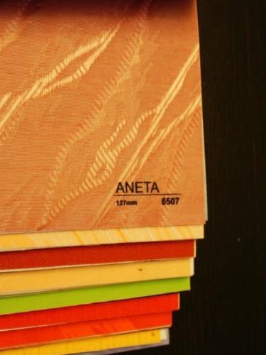 Wzorniki – Żaluzje pionowe – verticale – aneta 12
