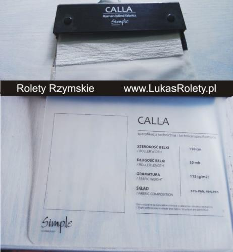 Wzorniki – Rolety rzymskie – calla 1