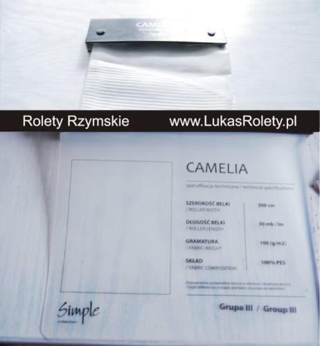 Wzorniki – Rolety rzymskie – camelia 1