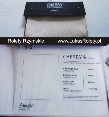 Wzorniki – Rolety rzymskie – cherry 01