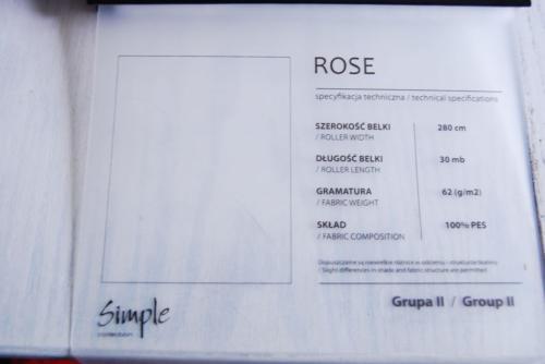 Wzorniki – Rolety rzymskie – rose 5