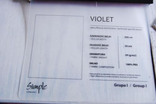 Wzorniki – Rolety rzymskie – violet 8