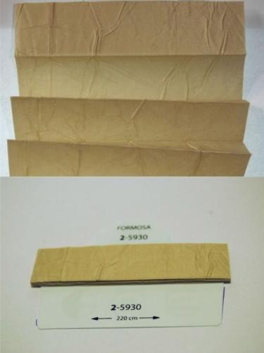 Wzorniki - zaluzje plisowane plisy 080