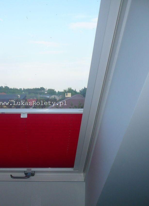 Plisa na okna dachowe - osprzęt biel