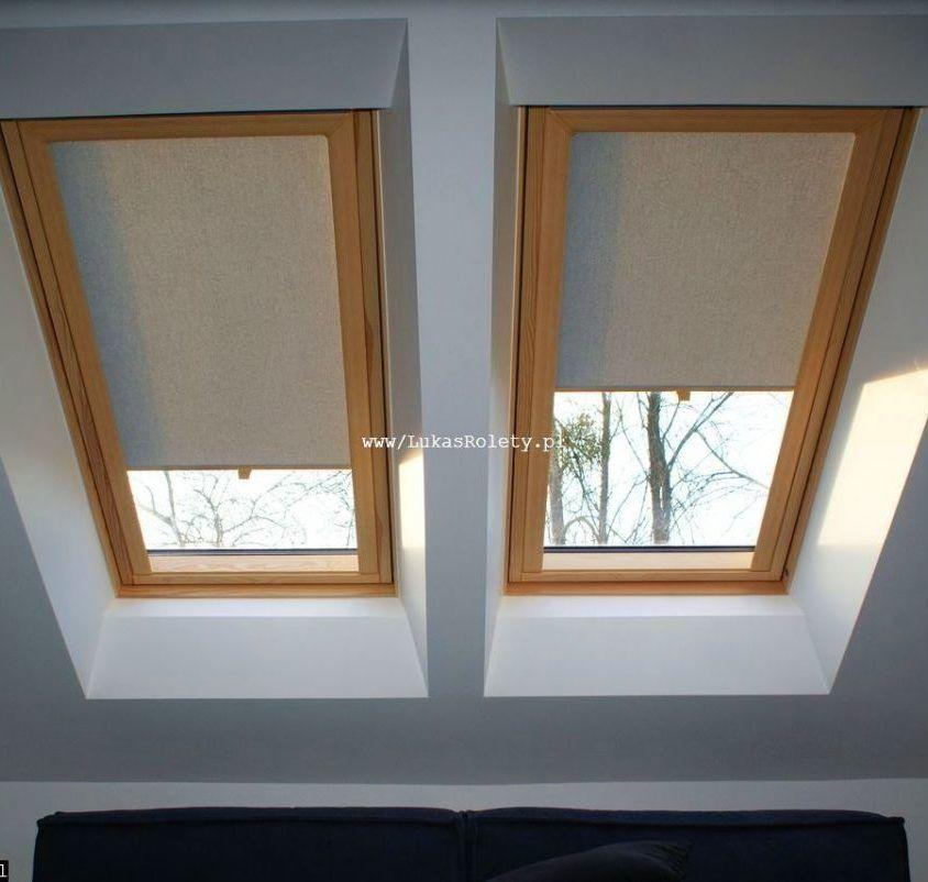 Rolety dachowe - osprzęt drewno-podobny