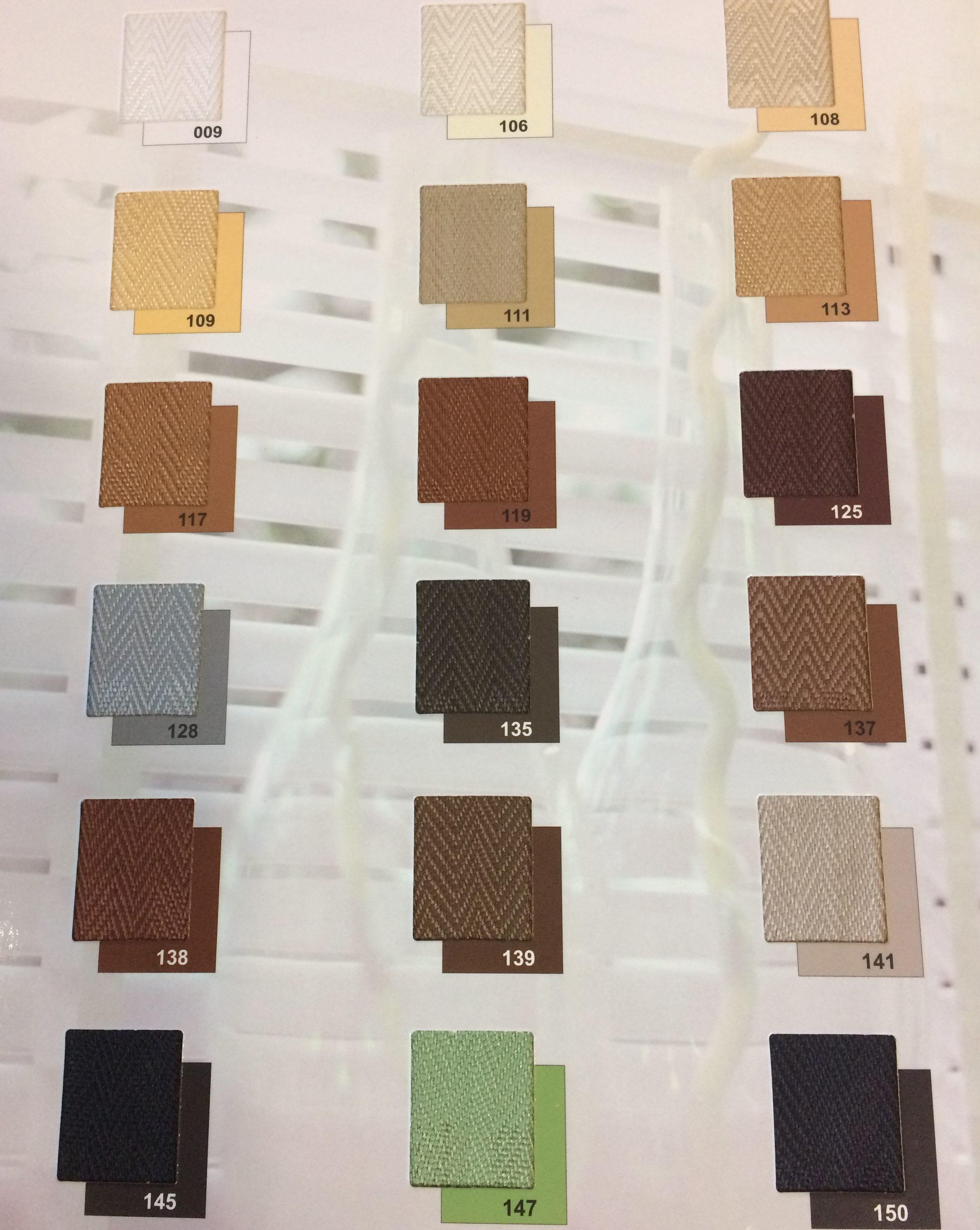 kolory drabinek sznurkowych